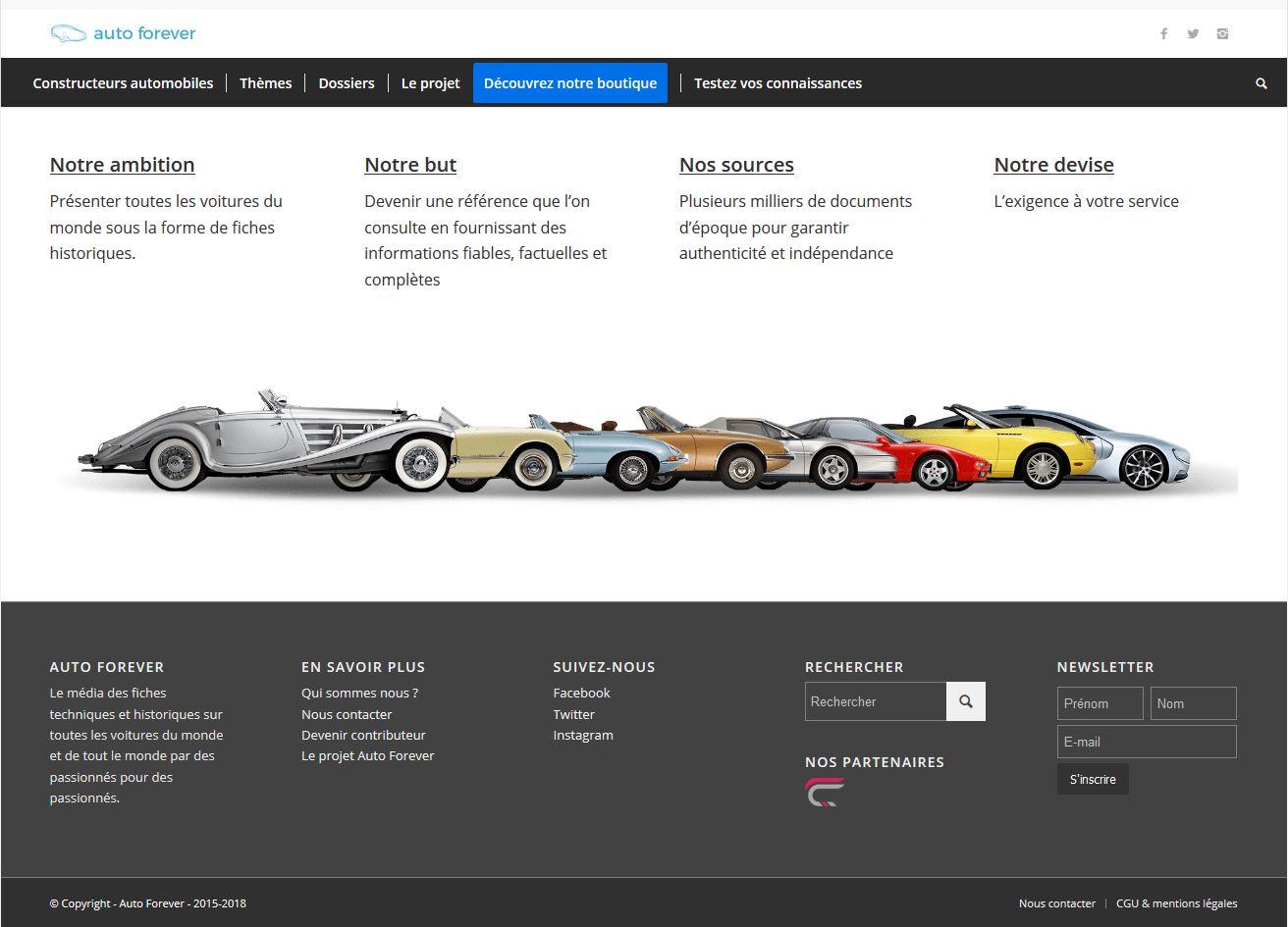 Auto Forever encyclopédie automobile en ligne